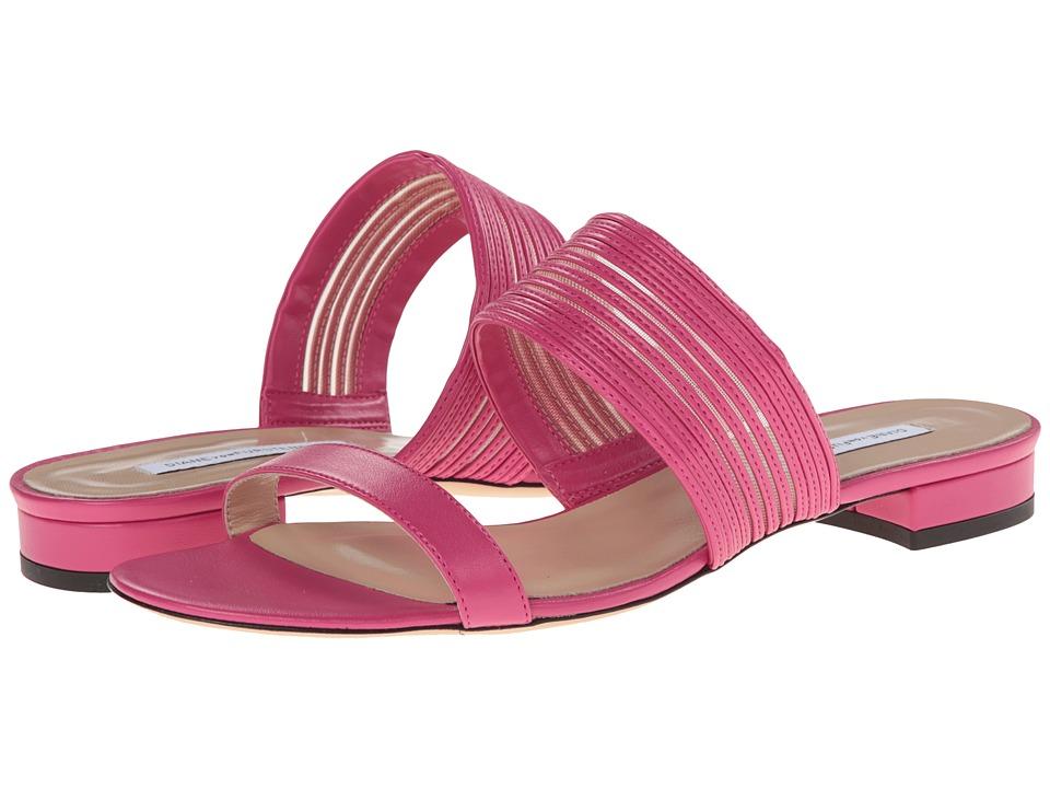 Diane von Furstenberg - Flavia (Jazzberry Nappa/Nude Mesh) Women's Shoes