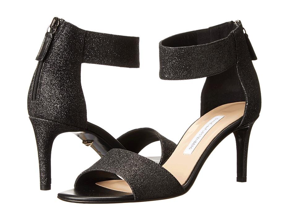 Diane von Furstenberg - Kinder (Black Fine Glitter) High Heels