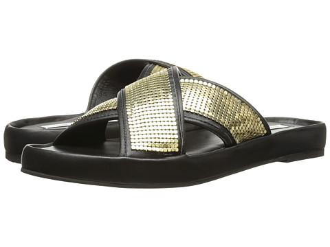 Diane von Furstenberg - Sarita (Black Nappa/Gold Chainmail) Women's Shoes