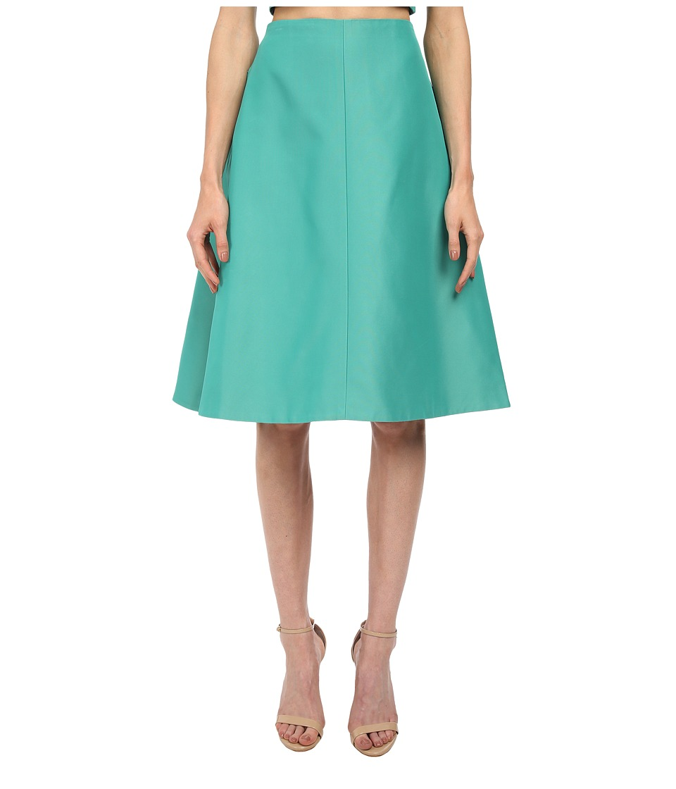 tibi - A-Line Skirt (Underwater Green) Women's Skirt