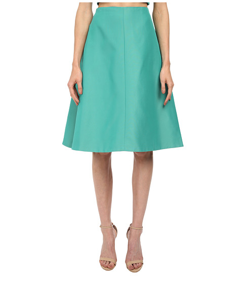 tibi - A-Line Skirt (Underwater Green) Women