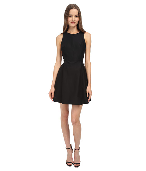 tibi - Sleeveless Pleated Dress (Black Multi) Women's Dress