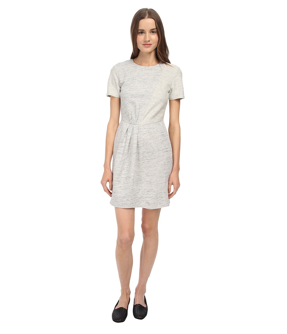 tibi - Patchwork Draped Dress (Heather Grey) Women's Dress