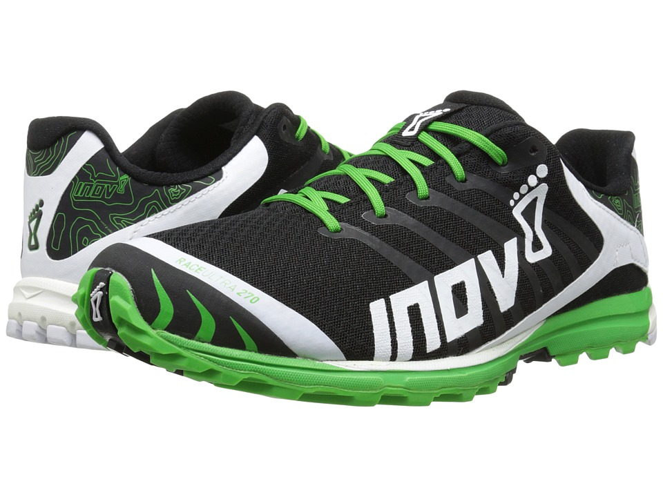 inov-8 - Race Ultra 270 (Black/White/Green) Men's Running Shoes