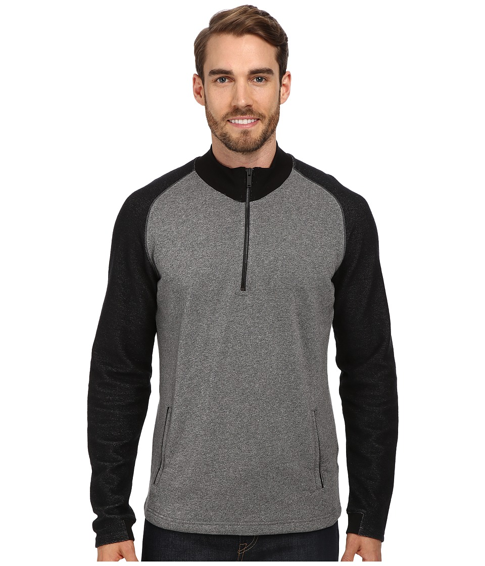 Calvin Klein Jeans - Reverse Side Piecing Half Zip (Charcoal Grindle) Men's Long Sleeve Pullover