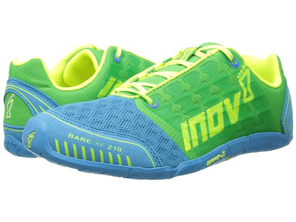 inov-8 - Bare-XF 210 (Green/Blue/Yellow) Women's Running Shoes