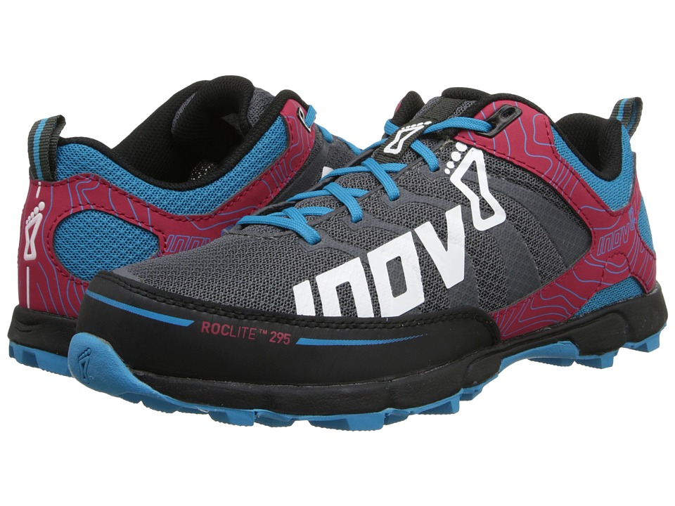 inov-8 - Roclite 295 (Grey/Berry/Blue) Women's Running Shoes