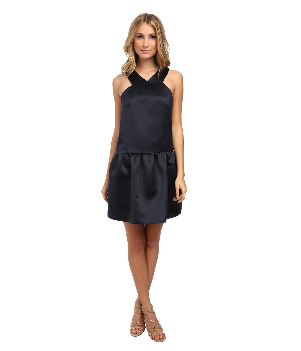 tibi - Drop Waist Dress (Navy) Women