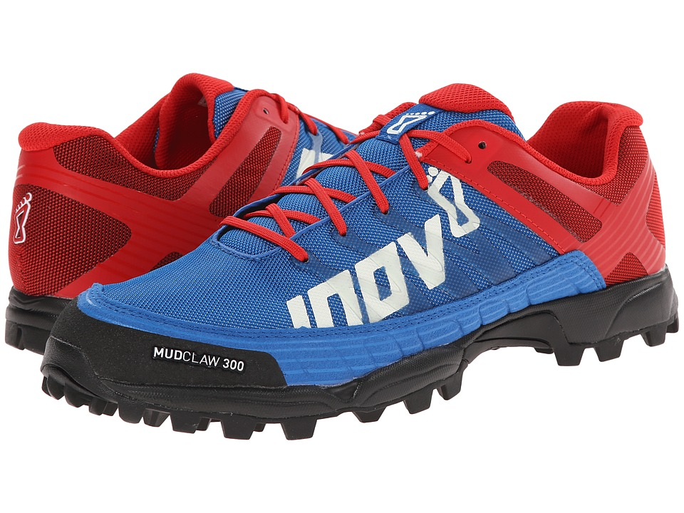 inov-8 - Mudclaw 300 (Blue/Red) Running Shoes