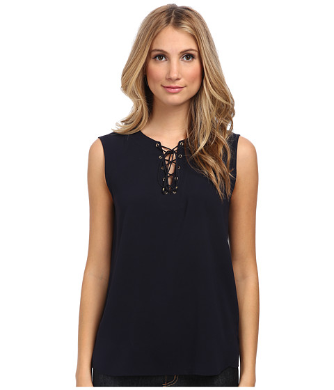 tibi - Sailor Top (Navy) Women's Sleeveless