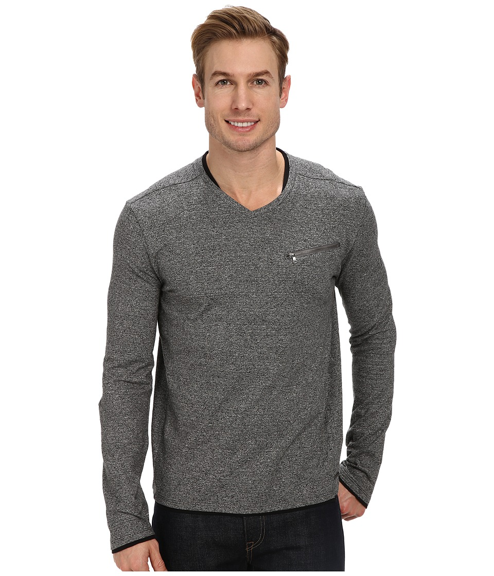Calvin Klein Jeans - L/S Multicount Double Layer (Soot Marl) Men's Clothing