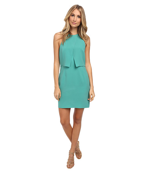 tibi - Halter Dress (Underwater Green) Women