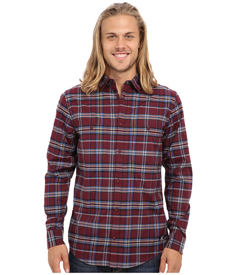 DC - Federal L/S Woven (Zinfandel Federal) Men's Long Sleeve Button Up