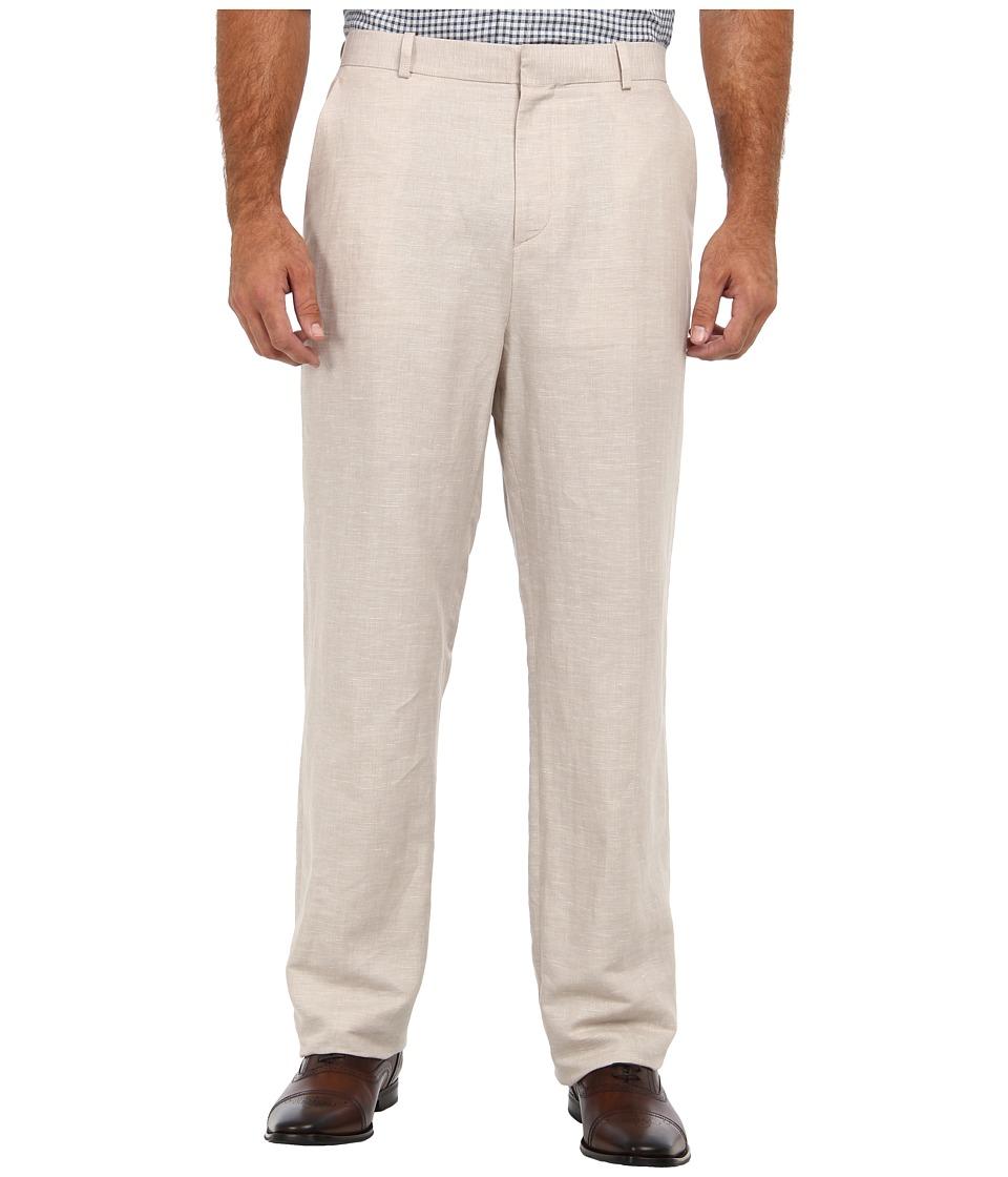 Perry Ellis - Big and Tall Linen Pant Suit (Natural Linen) Men's Casual Pants