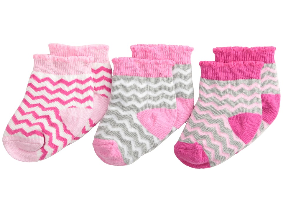 Jefferies Socks - Chevron 3 Pack (Infant/Toddler) (Multi) Girls Shoes