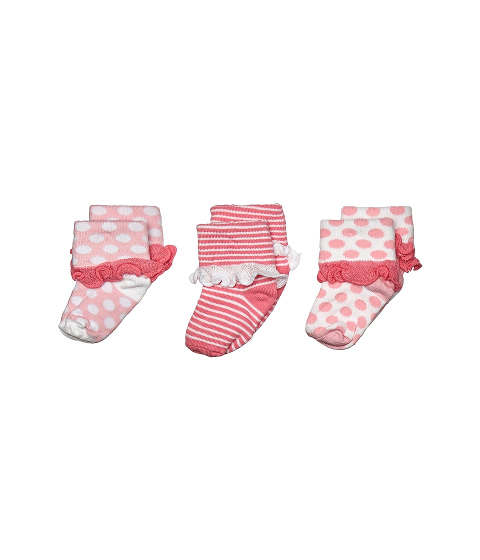 Jefferies Socks - Turn Cuff 3 Pack (Infant/Toddler) (Pink) Girls Shoes