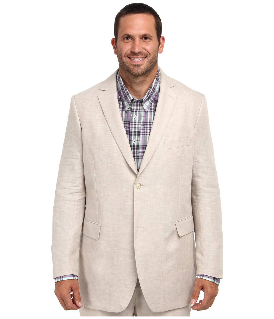 Perry Ellis - Big and Tall Linen Suit Jacket (Natural Linen) Men