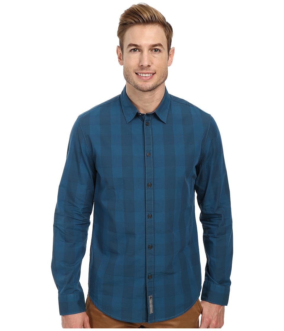 Calvin Klein Jeans - Skipdent Check Shirt (Corsair) Men