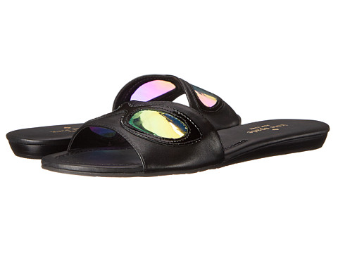 Kate Spade New York - Taleen (Black Nappa/Patent/Blue Mirror Vinyl) Women's Sandals