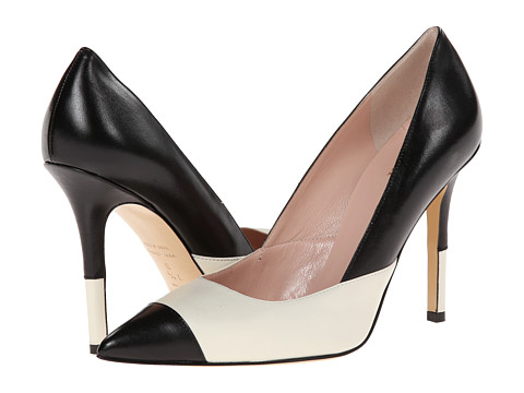 Kate Spade New York - Lentica (Cream/Black Nappa) High Heels