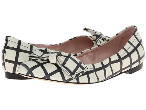 Kate Spade New York - Suki (Cream/Black Check Print Nappa) Women's Shoes