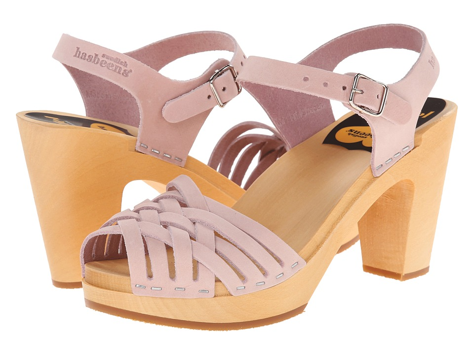 Swedish Hasbeens - Braided Sky High (Dirty Pink) High Heels