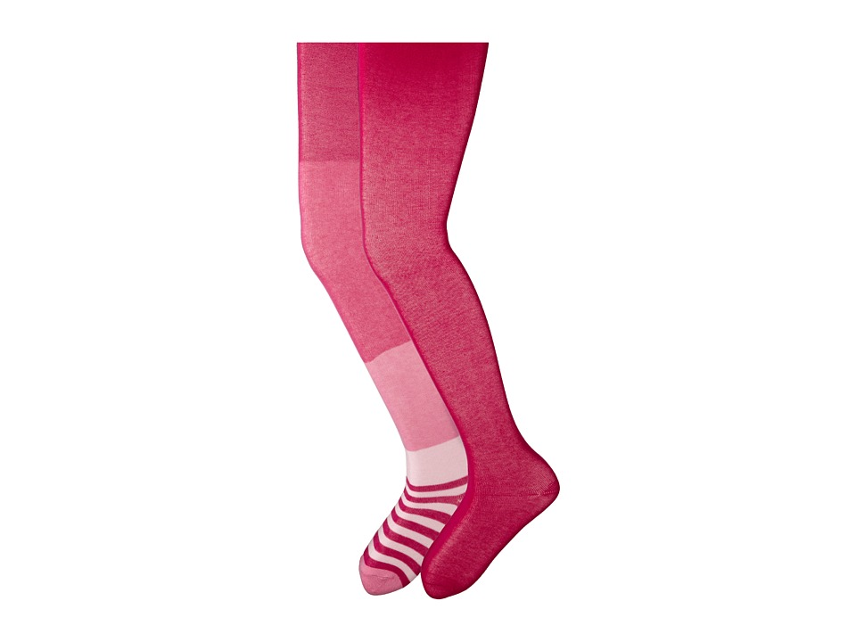 Jefferies Socks - Wide Stripe/Solid Tights Pack (Toddler/Little Kid/Big Kid) (Asst B (1) Pink 1563 (1) Hot Pink 1500) Hose
