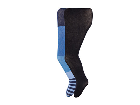 Jefferies Socks - Wide Stripe/Solid Tights Pack (Toddler/Little Kid/Big Kid) (Asst C (1) Blue 1563 (1) Navy 1500) Hose