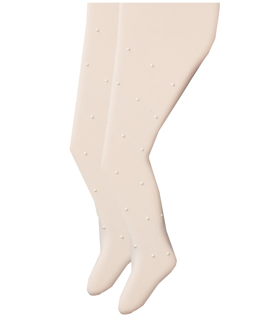 Jefferies Socks - Dress Up Pearl Tights 2 Pack (Toddler/Little Kid/Big Kid) (Ivory Pearls) Hose