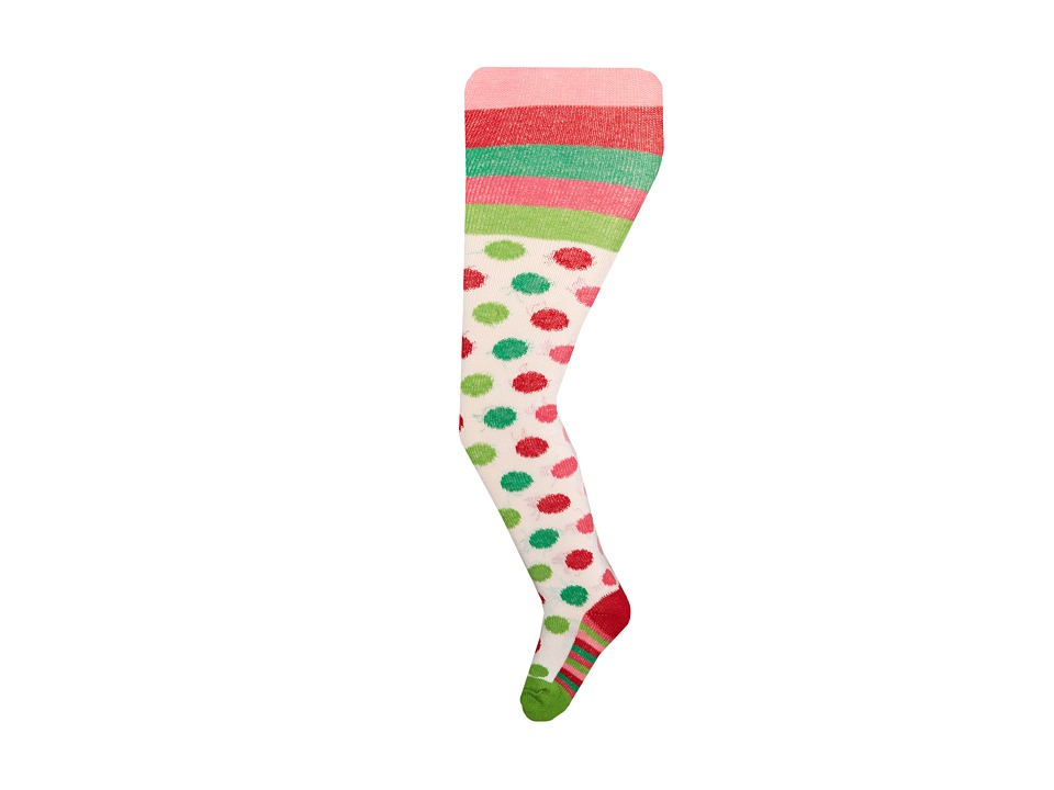 Jefferies Socks - Holiday Stripe/Holiday Dot Tights 2 Pack (Infant/Toddler/Youth) (Asst A (1) Red/Green 1562 (1) Holiday Multi 1561) Hose