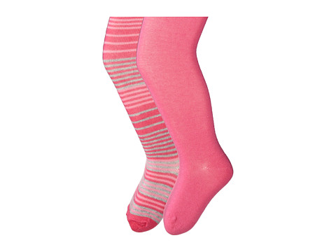 Jefferies Socks - Stripe/Solid Tights 2 Pack (Infant/Toddler/Youth) (Asst A (1) Pink 1564 (1) Bubblegum 1500) Hose