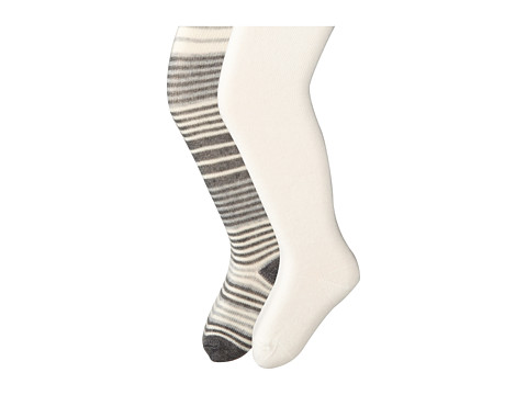 Jefferies Socks - Stripe/Solid Tights 2 Pack (Infant/Toddler/Youth) (Asst C (1) Ivory 1564 (1) Ivory 1500) Hose