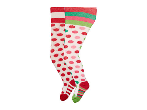 Jefferies Socks - Dot Tights 2 Pack (Infant/Toddler/Youth) (Asst A (1) Red/White) Hose