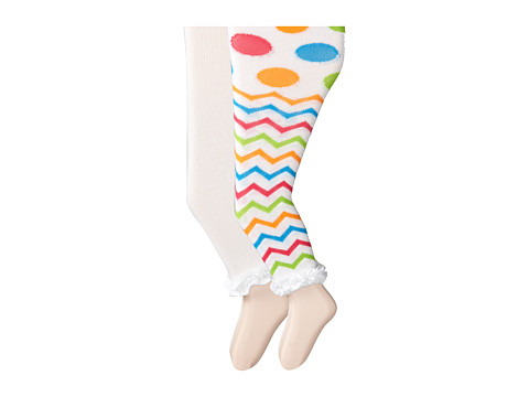 Jefferies Socks - Ruffle Footless Tights 2 Pack (Infant/Toddler/Youth) (Asst A (1) White/Multi 1573 (1) White 1558) Hose