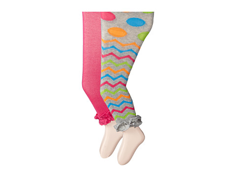 Jefferies Socks - Ruffle Footless Tights 2 Pack (Infant/Toddler/Youth) (Asst B (1) Grey Heather 1573 (1) Hot Pink 1558) Hose