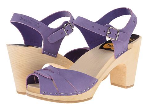 Swedish Hasbeens - Peep Toe Super High (Purple) Women's Sandals
