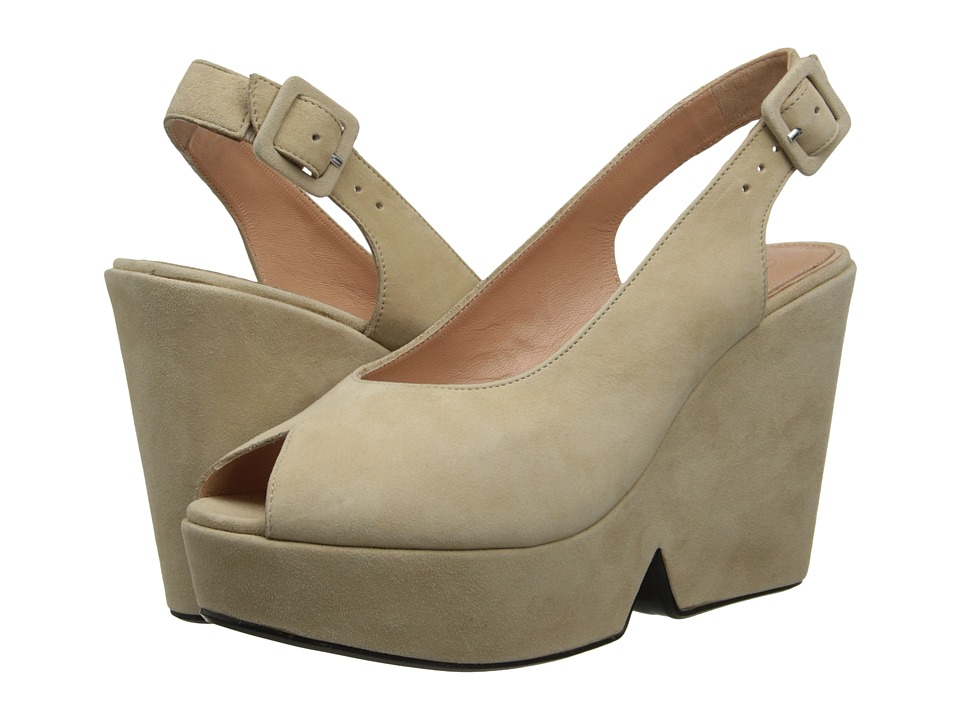Robert Clergerie - Dylani (Sand Suede) Women's Wedge Shoes