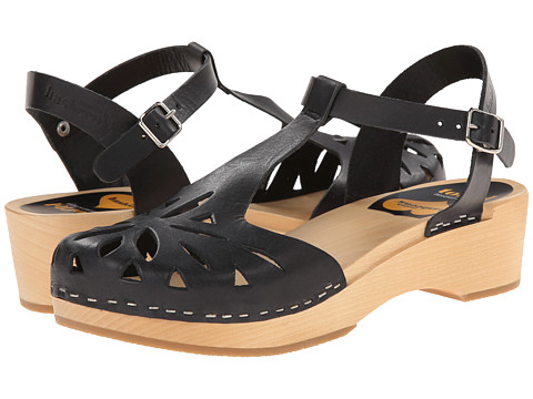 Swedish Hasbeens - Lacy Debutant (Black) Women's Sandals