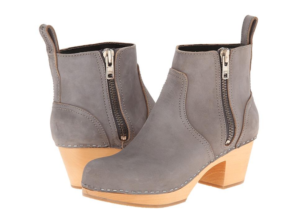 Swedish Hasbeens - Zip It Emy (Dark Grey) Women's Zip Boots