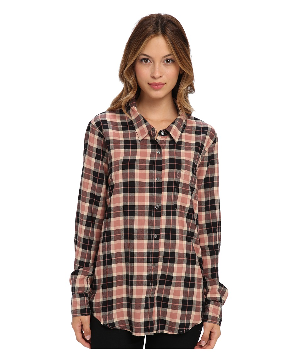 Joie - Anabella 5706-27430 (Almond/Rouge/Caviar) Women's Long Sleeve Button Up