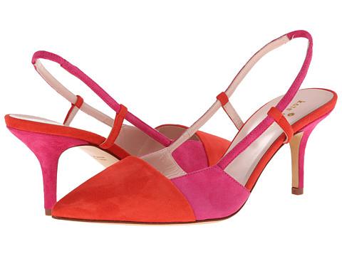 Kate Spade New York - Jupiter (Maraschino Red Suede/Deep Pink Suede) High Heels