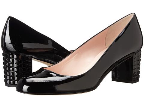 Kate Spade New York - Mahina (Black Patent/Black Spray Heel) Women's 1-2 inch heel Shoes