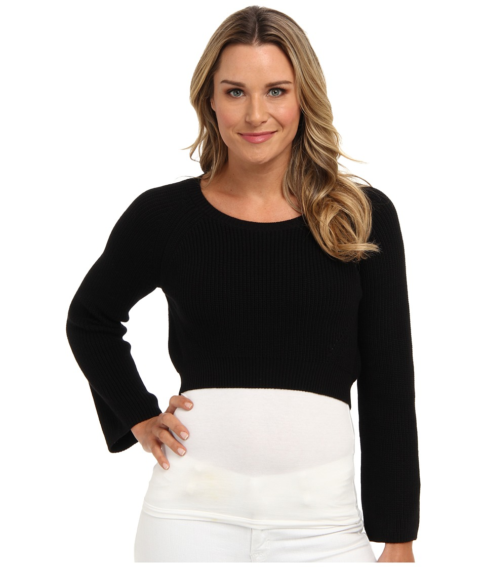 525 america - Hi/Lo Super Crop (Black) Women's Sweater
