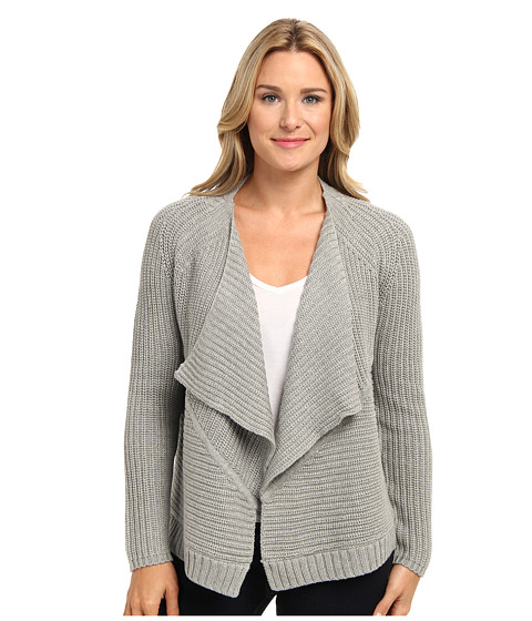 525 america - Envelope Open Cardigan (Heather Grey) Women's Sweater
