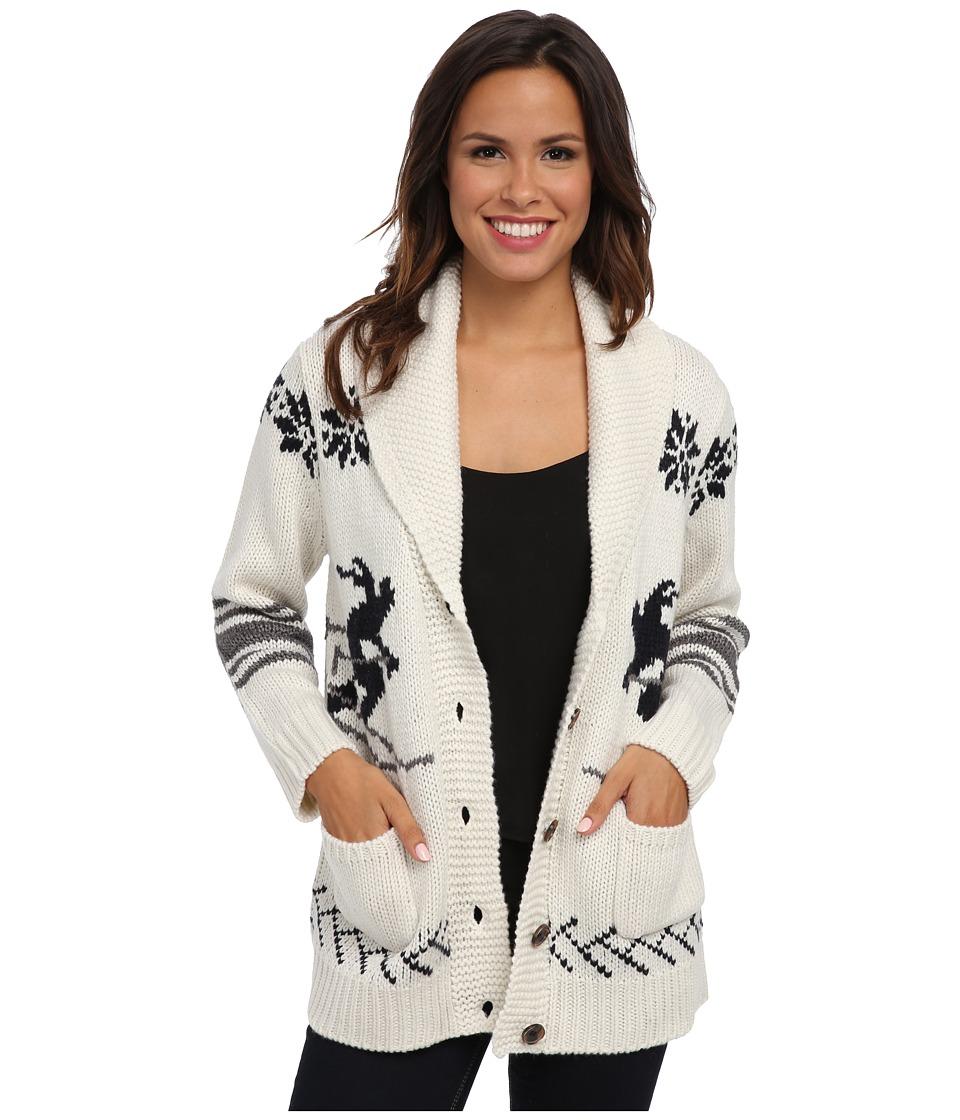 525 america - Skiers Boyfriend Vintage Cardigan (White Cap) Women's Sweater