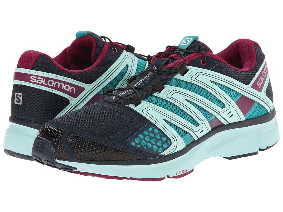 Salomon - X-Mission 2 (Deep Blue/Igloo Blue/Mystic Purple) Women's Shoes