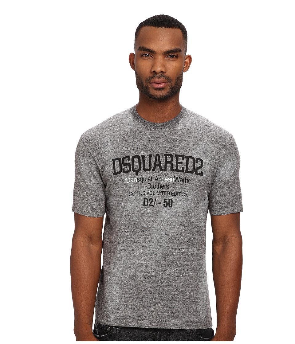 DSQUARED2 - Tight Fit Tee (Dark Grey Melange) Men's T Shirt