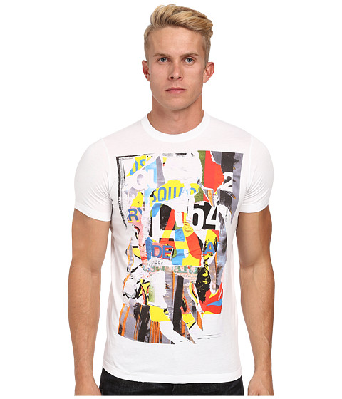 DSQUARED2 - Painterly Sexy Slim Fit Tee (White) Men's T Shirt