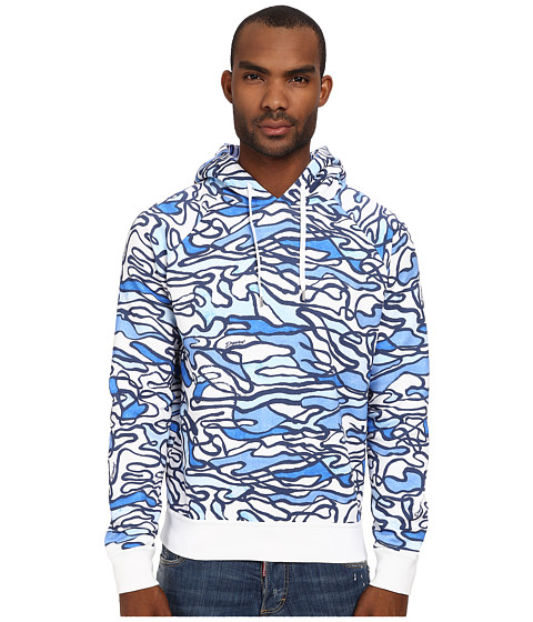 DSQUARED2 - Underwater Fleece Hoodie (Blue Water) Men