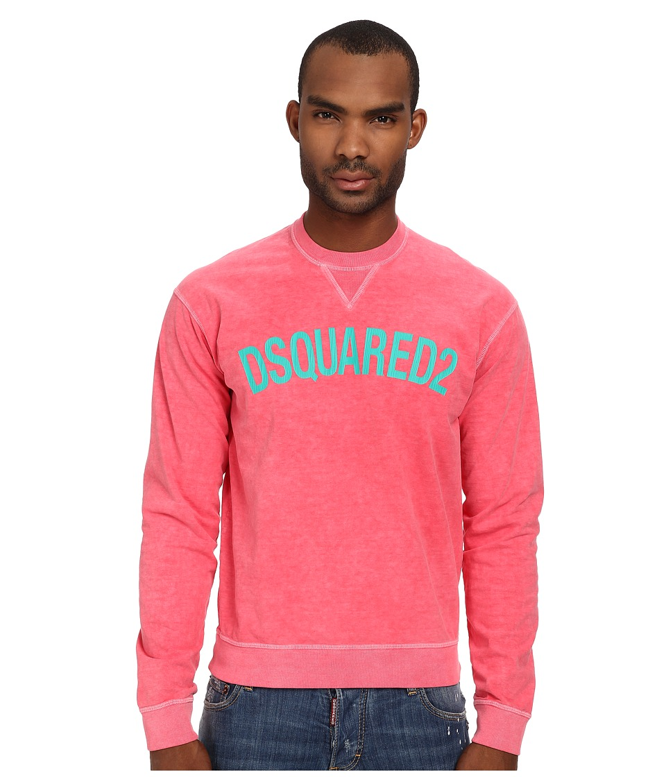 DSQUARED2 - Dean Fit Sweatshirt (Coral) Men